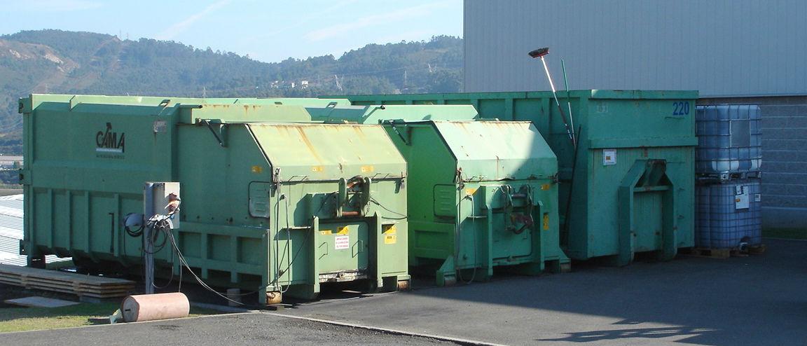 Contenerización y compactación de residuos
