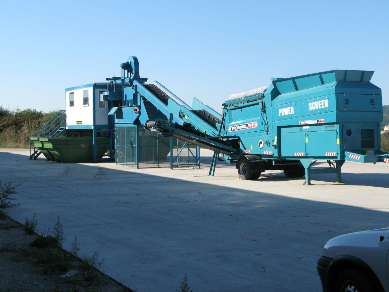 Planta de valorización de residuos de construcción y demolición (RCD)