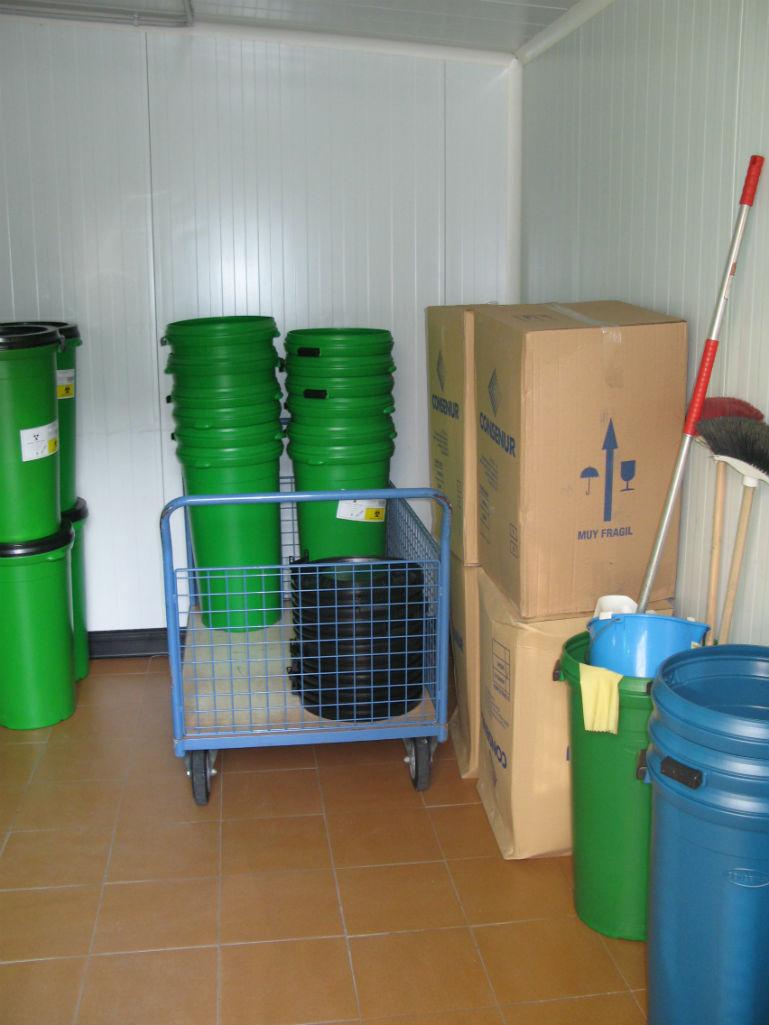 Contenerización de residuos sanitarios